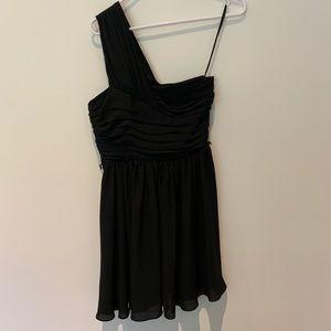 Express Black One Shoulder Dress